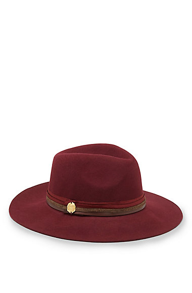 VINCE CAMUTO TRI-BAND WOOL PANAMA HAT