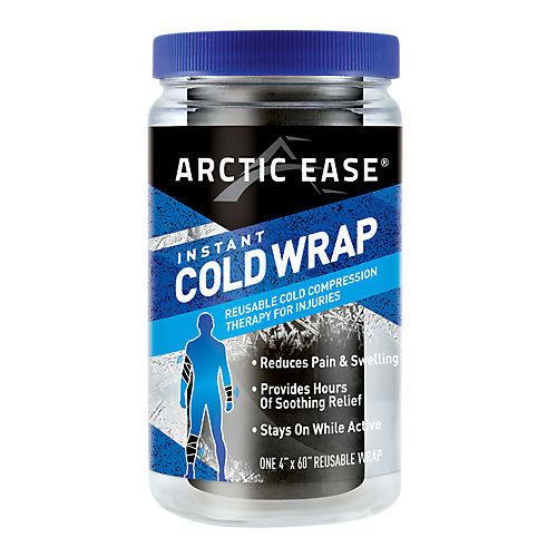 Arctic Ease Reusable Cold Compression Wrap, Black, 1 ea