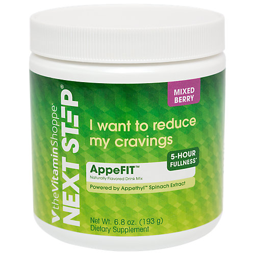 Next Step Mixed Berry Appefit Made With Appethyl Spinach Extract To Reduce Cravings, 5 Hours Of Fullness For Metabolism Support (6.8 Ounce Powder)