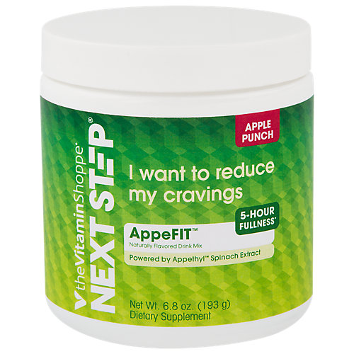 Next Step Apple Punch Appefit Made With Appethyl Spinach Extract To Reduce Cravings, 5 Hours Of Fullness For Metabolism Support (6.8 Ounce Powder)