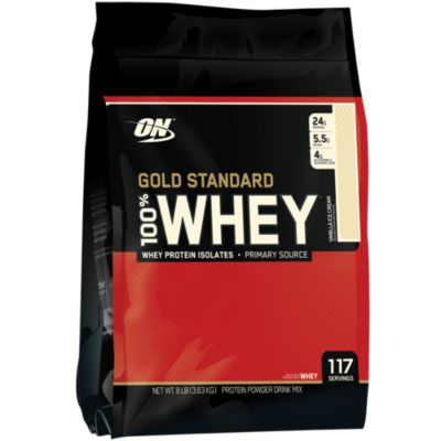 Optimum Nutrition Gold Standard 100% Whey Vanilla Ice Cream, 8 Pound