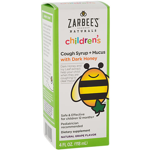 Childrens Cough Syrup + Mucus With Dark Honey