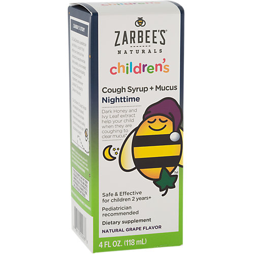 Childrens Night Time Cough + Mucus With Dark Honey