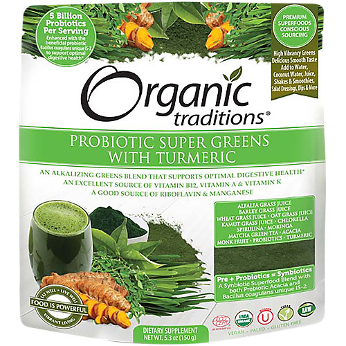 Probiotic Super Greens With Turmeric