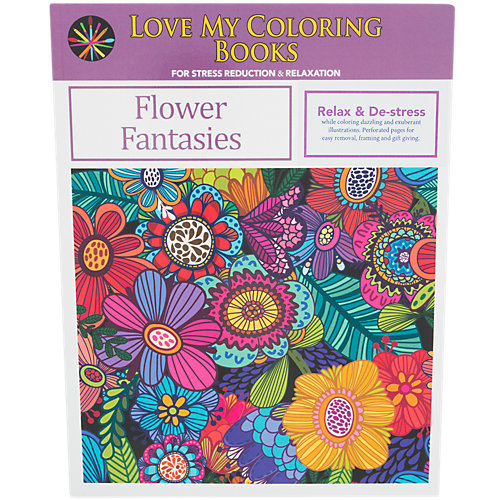 Love My Coloring Books Flower Fantasies 1 Book