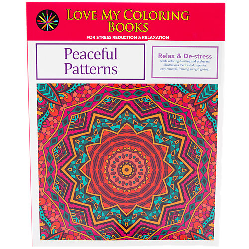 Love My Coloring Books Peaceful Patterns 1 Book