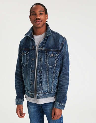 AE Dark Wash Denim Jacket