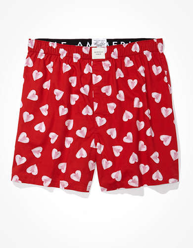 AEO Painted Hearts Stretch Boxer Short