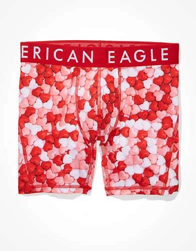 "AEO Candy Hearts 6"" Flex Boxer Brief"
