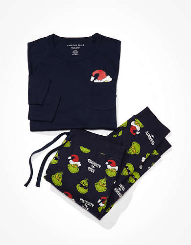 AE Grinch PJ Set