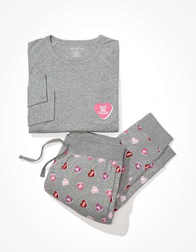 AEO Candy Hearts PJ Set