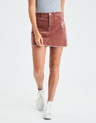 AEO Vintage Hi-Rise Corduroy Skirt