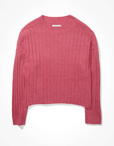 AE Cropped Dreamspun Crew Neck Sweater