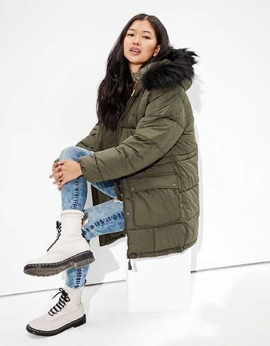 AE Long Puffer Coat