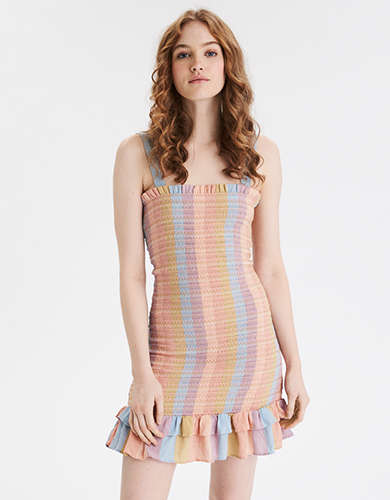 AE Smocked Bodycon Mini Dress