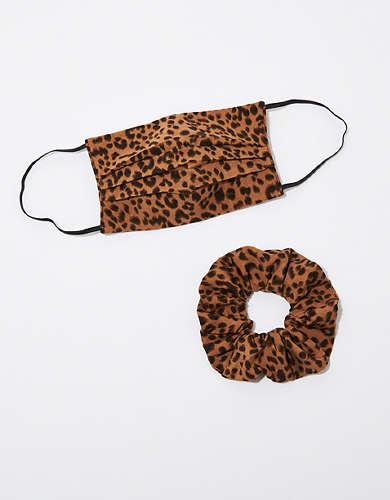 AEO Leopard Mask + Scrunchie