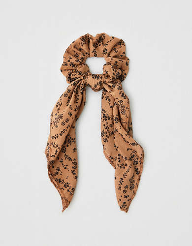 AEO Floral Bow Scrunchie