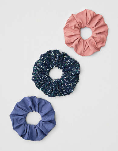 AEO Floral Scrunchies 3-pack