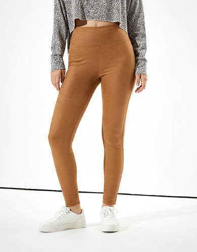 AE Faux Suede Highest-Waisted Legging