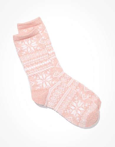 AE Snowflake Crew Sock