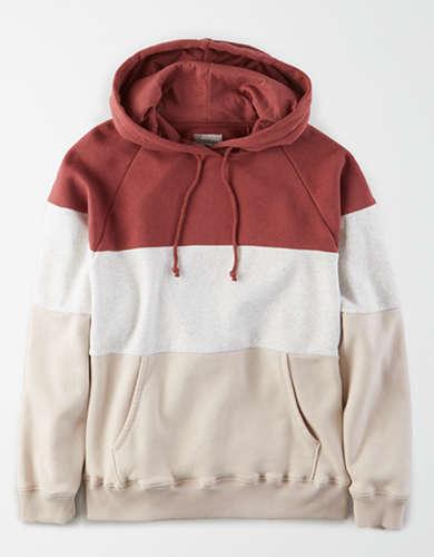 AE Fleece Color Block Hoodie