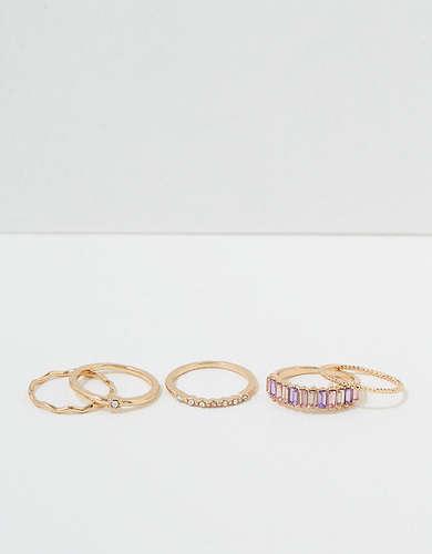 AEO Baguette Rings 5-Pack
