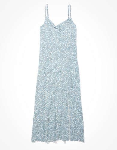 AE Cowl Neck Midi Slip Dress