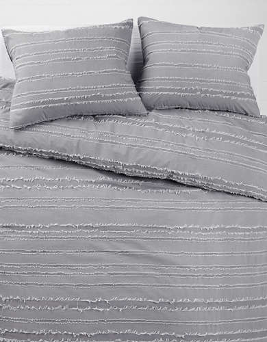Dormify Striped Full/Queen Duvet Cover And Sham Set