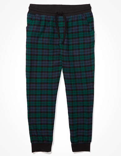 AEO Plaid Flannel PJ Jogger Pant