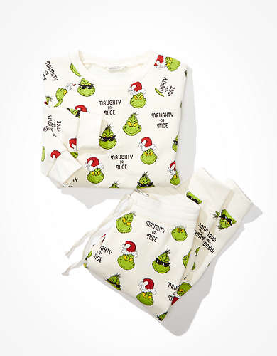 AEO Grinch PJ Set