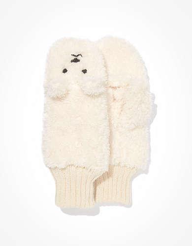AEO Polar Bear Flip Mittens
