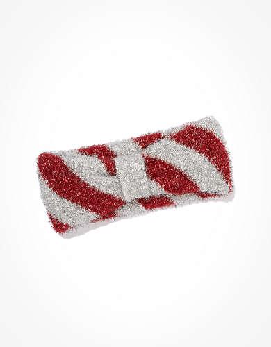 AEO Tinsel Candy Cane Headband