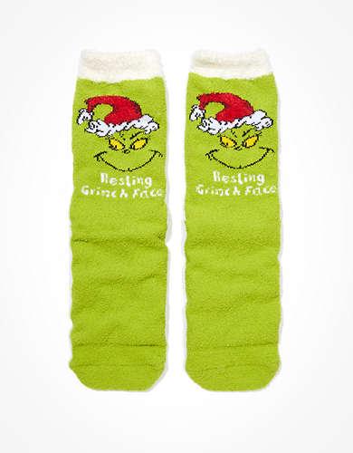 AEO Grinch Slipper Socks