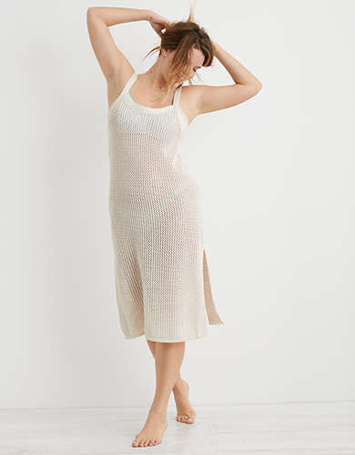 Aerie Mesh Sweater Cover Up