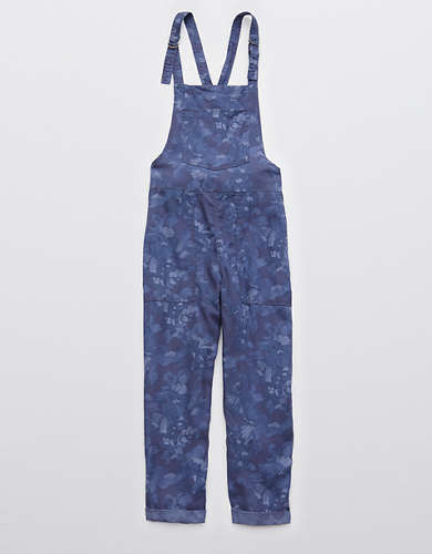 Aerie Twill Floral Overall