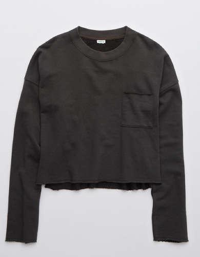 Aerie Sunday Soft Cropped Crew Sweatshirt
