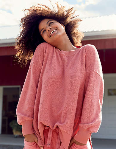 Aerie Cozy Good Vibes Oversized Sweatshirt