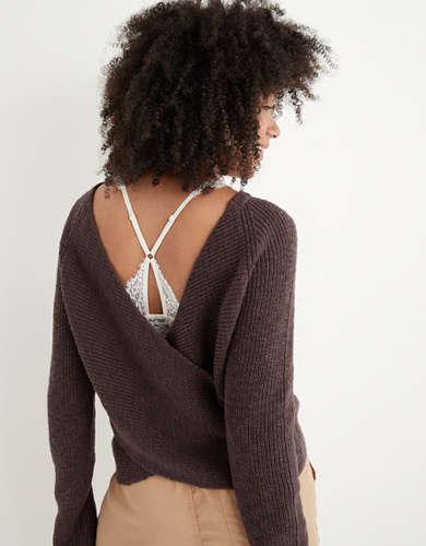 Aerie Ballet Back Sweater