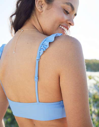 Aerie Ruffle Longline Triangle Bikini Top