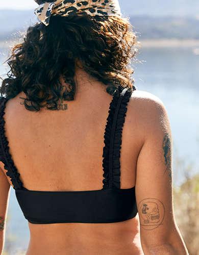 Aerie Ruffle Bandeau Bikini Top