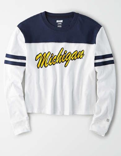 Tailgate Women's Michigan Wolverines Cropped T-Shirt