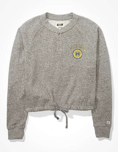 Tailgate Women's Michigan Wolverines Cropped Sweatshirt