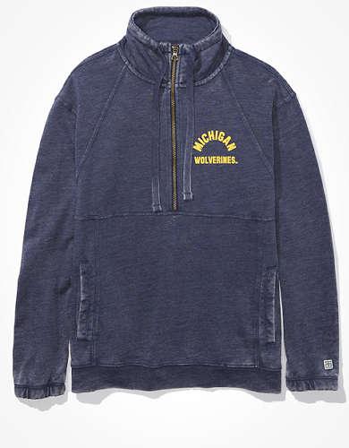 Tailgate Women's Michigan Wolverines Quarter-Zip Sweatshirt