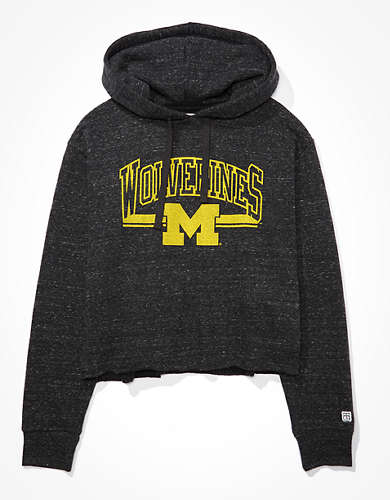 Tailgate Women's Michigan Wolverines Cropped Hoodie