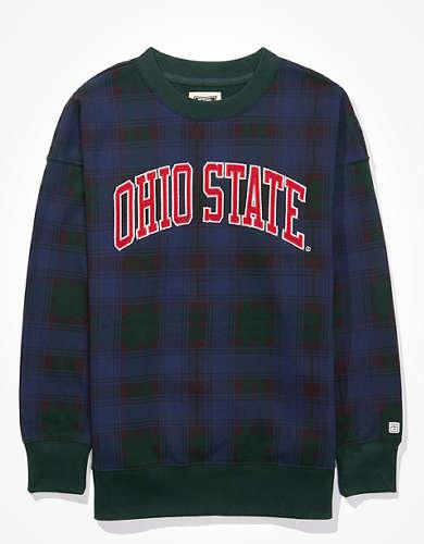 Tailgate Women's OSU Buckeyes Plaid Sweatshirt
