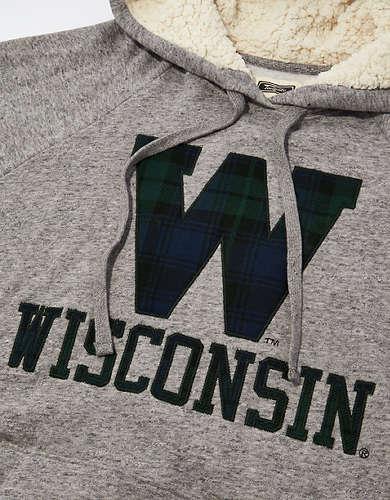 Tailgate Women's Wisconsin Badgers Sherpa Lined Hoodie