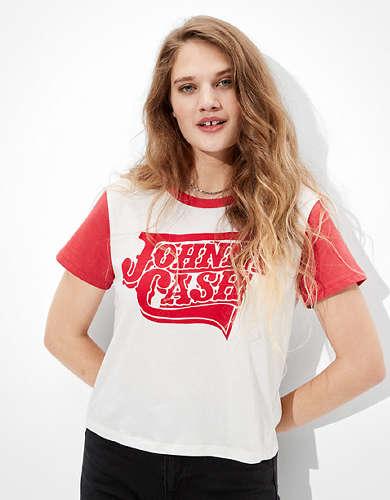Tailgate Women's Johnny Cash Graphic T-Shirt