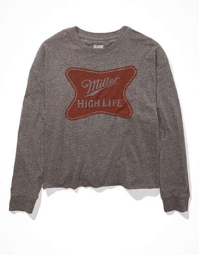 Tailgate Women's Miller High Life Long-Sleeve Cropped T-Shirt