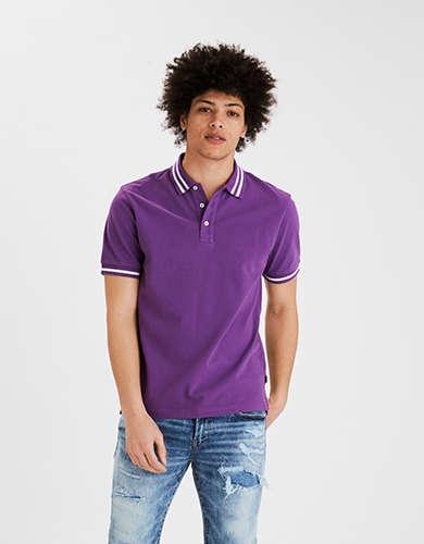 AE Pique Tipped Polo Shirt