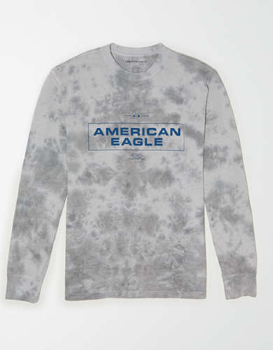 AE Long Sleeve Tie-Dye Graphic T-Shirt